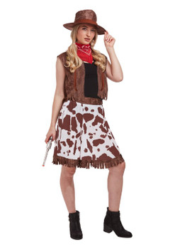 Adult Cowgirl Fancy Dress Costume