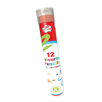 Pack of 12 Colouring Pencils with Sharpener