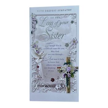 Loss of Sister Sympathy Opacity Card