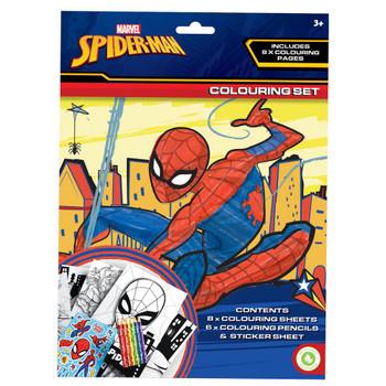 Spiderman Activity Colouring Set