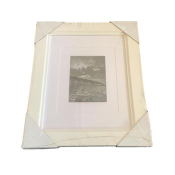 """Kenro Bergano Double Wooden White Photo Frame 7x5"""" or 10x8"""""""