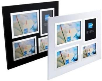 Kenro Strata Series Black 4 Apeture Photo Frame