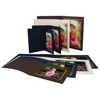"""Pack of 50 Kenro Black Slip In Folders 8x10"""" Upright"""