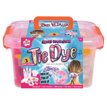 Make Your Own Tie Dye Hair Accessories Set