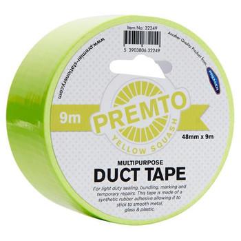 48mm x 9m Multipurpose Pastel Yellow Squash Duct Tape by Premto
