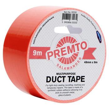48mm x 9m Multipurpose Pastel Salamander Red Duct Tape by Premto