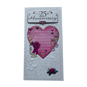 On Your 25th Anniversary Open Soft Whispers Card