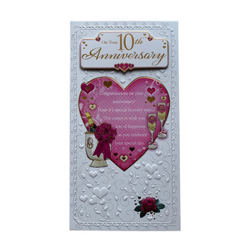 On Your 10th Anniversary Open Soft Whispers Card