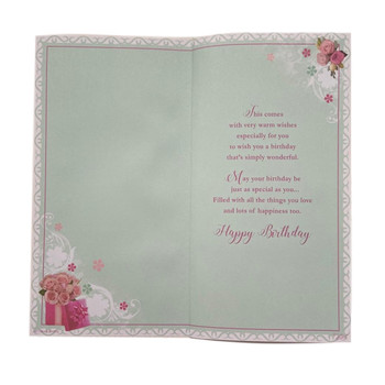 For Grandma Birthday Wishes Soft Whispers Card