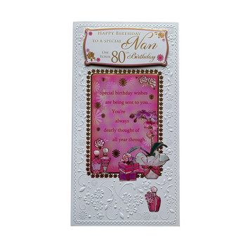To A Special Nan On Your 80th Birthday Soft Whispers Card
