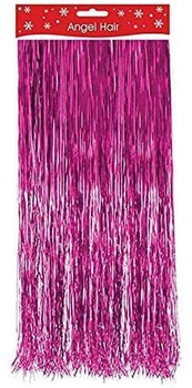 20cm Lamatta Tinsel Angel Hair Hot Pink