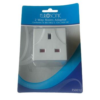 2 Way Main Adaptor Plug