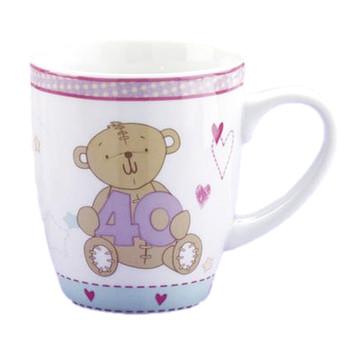 Button Corner Mug - 40th Birthday