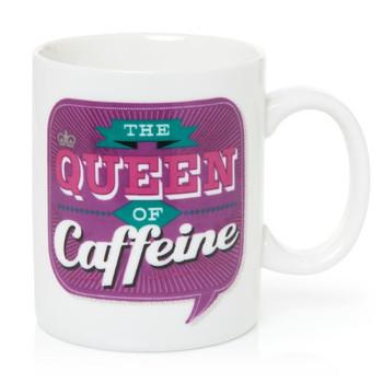 Back Chat 13 fl oz 369 ml The Queen of Caffeine Ceramic Mug