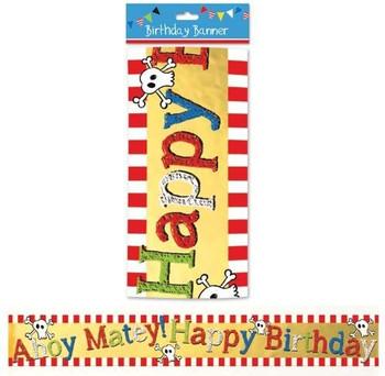 Foil Birthday Banner Pirates Design
