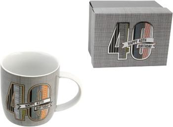 Denim Design Boxed 40th Birthday Mug