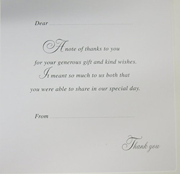 Pack of 6 Silver Foil Turquoise Aqua Heart Design Wedding Gift Thank You Cards