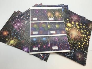 10 Sheet of Mix Designer Luxury Soft touch Foiled Christmas Giftwrap Celebration