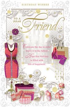To a Dear Friend Female Birthday Opacity Card
