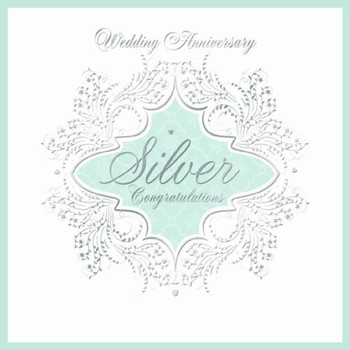 25th Silver Wedding Anniversary Invitations (Pack of 6 Quality Cards & Envelopes)