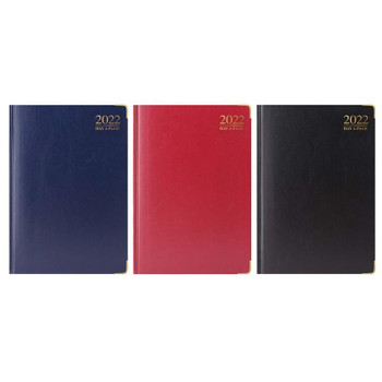 2022 A4 Day A Page Padded Diary With Metal Corners