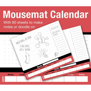 60 Sheets Mousemat Weekly Planner Pad Calendar