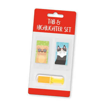 Purrfect Pets Tabs and Highlighter Set