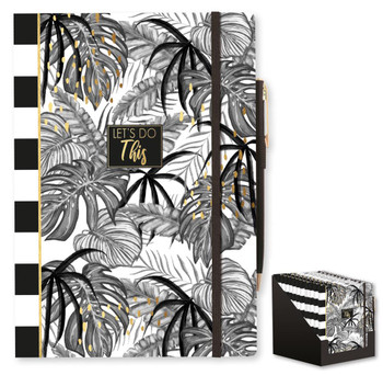 Tropical Noir Printed A5 Notebook and Pen