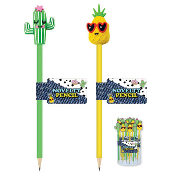 Pin Badge Tropical Design Wizard Novelty Pencil