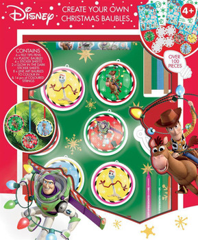 Toy Story 4 Create Your Own Christmas Baubles