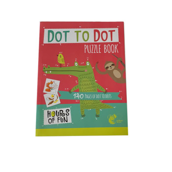 140 Pages Dot to Dot Puzzle Book by Chiltern Stationery