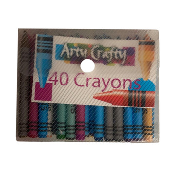 Pack of 40 Arty Crafty Wax Crayons
