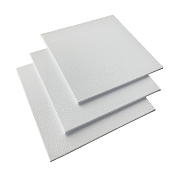 15x15cm Blank White Flat Stretched Board Art Canvas By Janrax