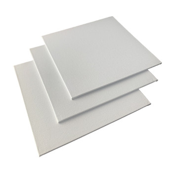 20x20cm Blank White Flat Stretched Board Art Canvas By Janrax