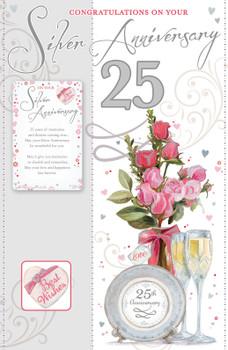 Silver Anniversary Keepsake Treasures Congratulations Card