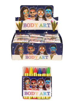 Henbrandt Neon Colour Face and Body Crayons - Brighten Up Your Halloween