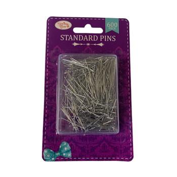 Pack of 600 Standard Steel Pins