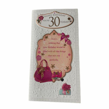 Happy Birthday You're 30 Today Female Greeting Card
