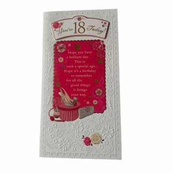 On Your 18th Birthday Female Birthday Card