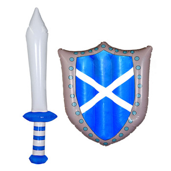 Inflatable Scottish Sword and Shield