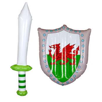 Inflatable Welsh Sword and Shield