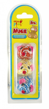 Pets at Play Mouse 3 Assorted