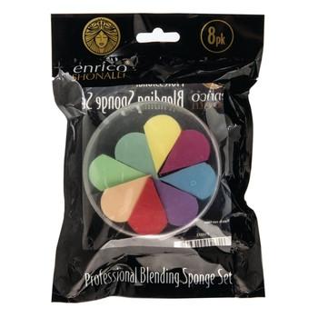 Pack of 8 Enrico Shonalli Cosmetic Professional Blending Sponge Set