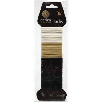 Pack of 36 Enrico Shonalli Assorted Shiny Hair Ties