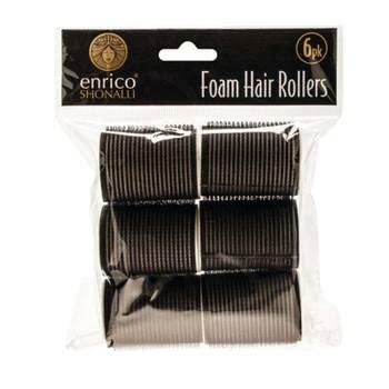 Pack of 6 Enrico Shonalli Foam Hair Rollers