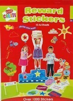 1000+ Reward Stickers Pad (10 A4 Sheets)