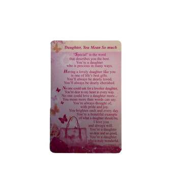 Daughter You mean so much Special Keepsake Wallet Card