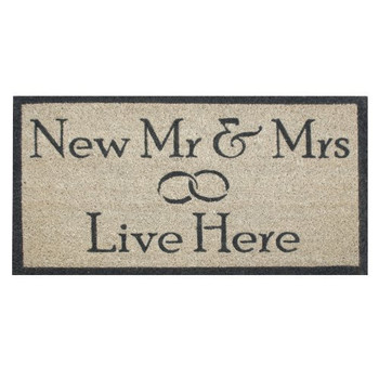 New Mr and Mrs Live Here Doormat