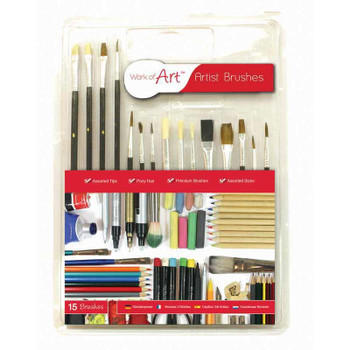 Work of Art Paint Brushes (Pack of 15)