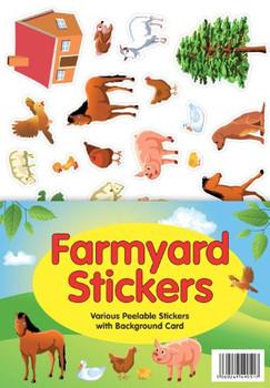 Farmyard Animals A4 Sticker Sheet